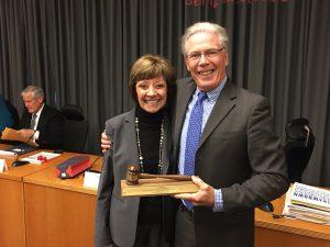CDFA Secretary Karen Ross with State Board President Craig McNamara