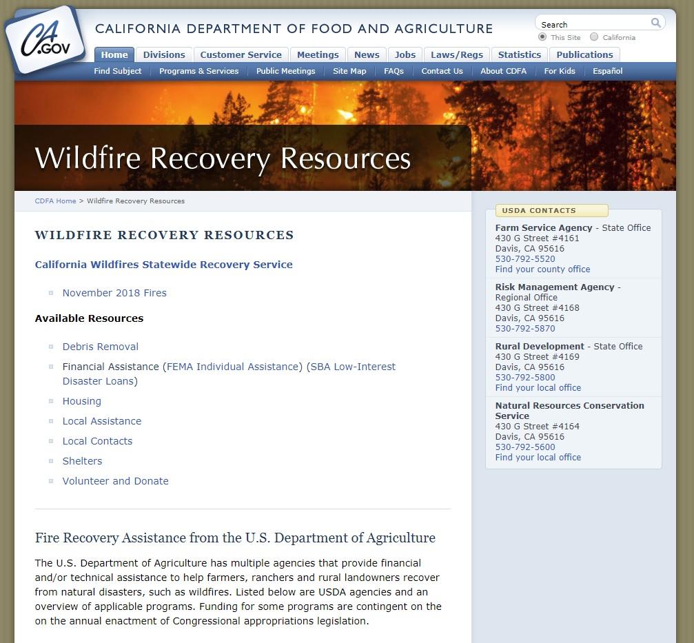 Wildlife Recovery Resources website