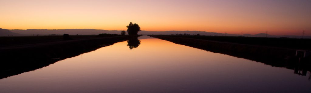 Picture of Irrigation Canal at Sunset in Imperial County