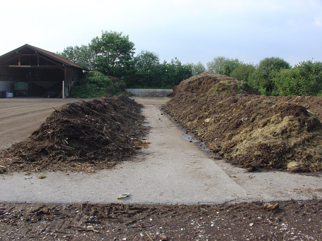 Two compost piles