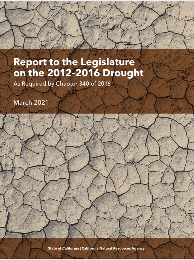 Cover of drought report to the legislature