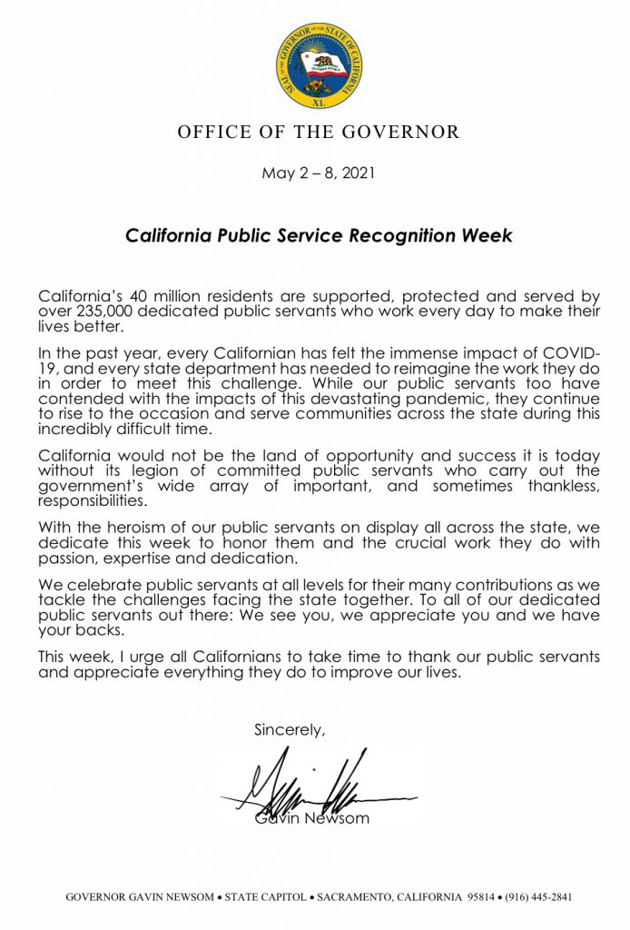 Governor's Letter